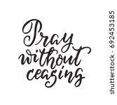 vector religions lettering  ... | Shutterstock .eps vector #692453185
