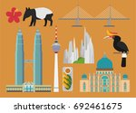 malaysia illustration  vector ... | Shutterstock .eps vector #692461675
