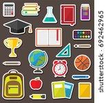 vector set of school stationery ... | Shutterstock .eps vector #692462965