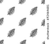 prehistoric plant icon in black ... | Shutterstock .eps vector #692464681