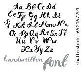 hand lettering alphabet design  ... | Shutterstock .eps vector #692467201