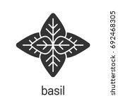 basil glyph icon. silhouette...   Shutterstock .eps vector #692468305
