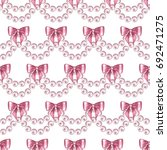 seamless pattern with pearls... | Shutterstock . vector #692471275