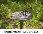 Cast Aluminum Copper Sundial...
