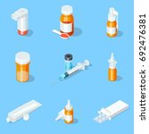 different medicaments set....   Shutterstock .eps vector #692476381