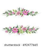 banner with flowering pink... | Shutterstock . vector #692477665