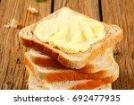 stack of sandwich bread slices...   Shutterstock . vector #692477935