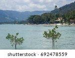 a beach on koh samui  thailand | Shutterstock . vector #692478559