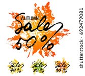 autumn sale stickers in several ... | Shutterstock .eps vector #692479081