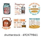 coffee maker or kettle  french... | Shutterstock .eps vector #692479861