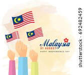 31 august   malaysia... | Shutterstock .eps vector #692482459