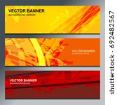 abstract banner design... | Shutterstock .eps vector #692482567
