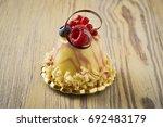 dessert on a beautiful wooden...   Shutterstock . vector #692483179