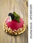 dessert on a beautiful wooden...   Shutterstock . vector #692483185