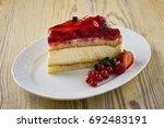 dessert on a beautiful wooden...   Shutterstock . vector #692483191