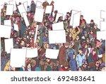 illustration of people... | Shutterstock .eps vector #692483641