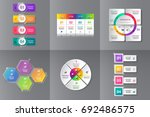 collection of infographic... | Shutterstock .eps vector #692486575