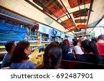 bangkok   july 30  2017  river... | Shutterstock . vector #692487901