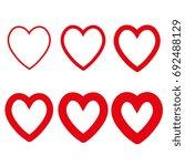 heart icon set | Shutterstock .eps vector #692488129
