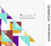 triangle pattern design... | Shutterstock . vector #692488681