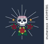 Funny Retro Scull And Roses...