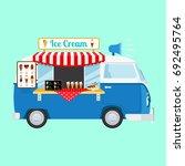 ice cream cartoon caricon on... | Shutterstock . vector #692495764