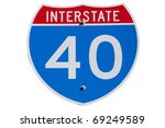 american interstate i 40 sign... | Shutterstock . vector #69249589