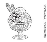 doodle coloring book page ice... | Shutterstock .eps vector #692496661