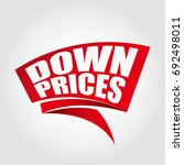 down prices labels banners | Shutterstock .eps vector #692498011