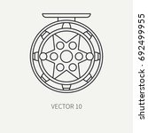line flat vector fisher and... | Shutterstock .eps vector #692499955