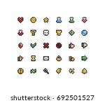 set of 30 tiny pixel perfect 8... | Shutterstock .eps vector #692501527