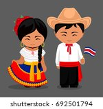 costa ricans in national dress... | Shutterstock .eps vector #692501794