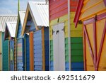 bathing huts   summer boxes in...   Shutterstock . vector #692511679