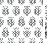 berries seamless pattern.... | Shutterstock .eps vector #692511727