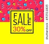 sale banner for online shopping ... | Shutterstock .eps vector #692511835