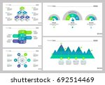 five business slide templates... | Shutterstock .eps vector #692514469