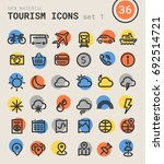 tourism bold linear icons | Shutterstock .eps vector #692514721