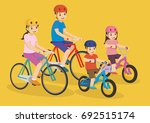 father mother  son and daughter ... | Shutterstock .eps vector #692515174