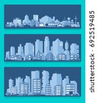 vector illustration with a city ...   Shutterstock .eps vector #692519485