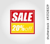 sale. 20  off. discount labels... | Shutterstock .eps vector #692528329