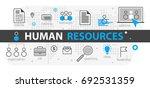 human resources web banner... | Shutterstock .eps vector #692531359