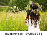 summer lifestyle portrait of... | Shutterstock . vector #692539351