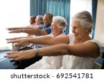 cheerful senior people... | Shutterstock . vector #692541781