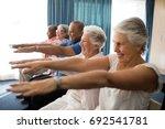 cheerful senior people... | Shutterstock . vector #692541781