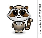raccoon line   shape art  color ... | Shutterstock .eps vector #692547781