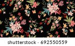 seamless floral pattern in... | Shutterstock .eps vector #692550559