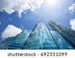 hong kong cityscape  | Shutterstock . vector #692551099