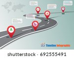 business road map timeline... | Shutterstock .eps vector #692555491