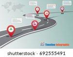 business road map timeline... | Shutterstock .eps vector #692555491