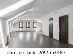 side view of unfurnished room... | Shutterstock . vector #692556487